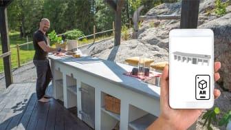 Slik mures det ultimate utekjøkkenet – komplett prosjekt med AR-objekt fra Finja