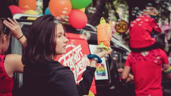 Bild från tidigare års Gävle Pride.