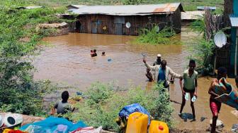 I norra Etiopien, i Afar-regionen, har runt 140 000 människor tvingats bli internflyktingar på grund av den plötsliga översvämningskatastrofen. Bild: Interagency Needs Assessment, Afar Region.