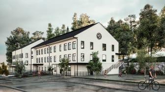 Rendering av etapp två för årskurs 4-9 i Bro Mälarstrand