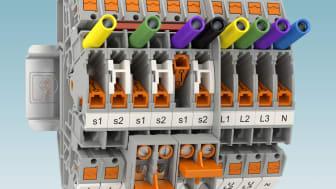 Ställverksplintar PTVME med Push-in anslutning ifrån sidan