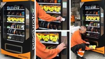Vendingmaskinen SavePro säkrar tillgång till förbrukningsvaror på ett säkert sätt, dygnet runt.