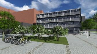 Planerade studentlägenheter vid Lindholmspirens färjeläge