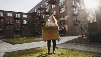Lisa Norrström är en av de unga som flyttat in en HSB Dela-lägenhet i Göteborg