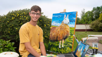 Steven McLeister, an artist from Portglenone, used his funding for a laptop to assist with the expansion of his arts business, Precisely Painted.