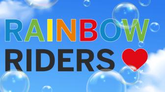 I årets Prideparad bjuder Flygbussarna på en bubblande upplevelse.