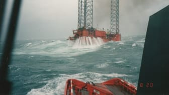 The accommodation platform 'West Gamma' was hit by a violent storm on the 20 August 1990. Every crew member was saved.