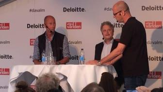 I panelen från vänster: Håkan Nyberg, Casper von Koskull och Jon Åsberg.