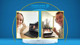 """Brand Manager Marie Mauseth and Henrik Norem won with the marketing campaign """"Make the World a Sweeter Place"""", together with Nidar and One Young World."""