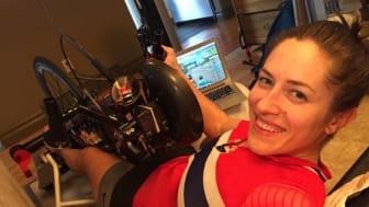Suzanna Tangen, norsk landslagssyklist i håndsykling, er klar for sykkeltur!