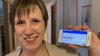 Kommunens snabba digitaliseringsstrateg Helena Månsson fixade EU-pengar till Eslöv.
