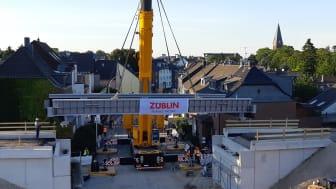 In nur drei Tagen montierte das ZÜBLIN-Team das rd. rd. 8,5 m breite und 16,5 m lange Bauwerk (Copyright: Ed. Züblin AG)