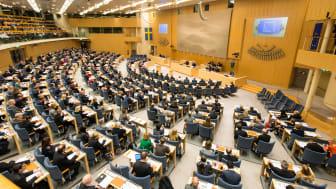 Riksdagen samlad för votering. Foto Ingemar Edfalk, Sveriges Riksdag.