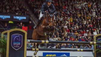 Henrik von Eckermann med Mary Lou vann världscupkvalet under Gothenburg Horse Show på söndagen. Foto: Natalie Greppi