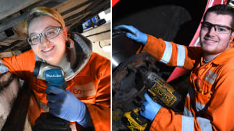 Engineering apprentices Melissa Millington and Nathan Smith