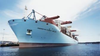 I Göteborgs hamn är arbetet i full gång bland hamnens partners med att säkra anlöp och godshantering. Foto Göteborgs Hamn