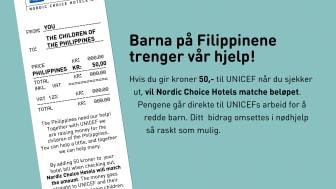 """Nordic Choice Hotels lanserar """"50 for Life"""" för Filippinerna"""
