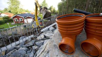 Det ska byggas ett nytt VA-nät i Brån som ska anslutas till Vännäs kommunala VA-nät. Foto: Patrick Trägårdh