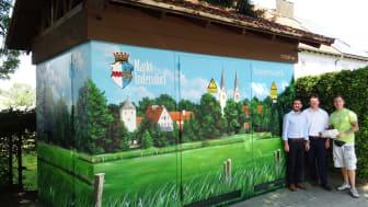 Kunst am Trafo: Postkarten-Panorama für Markt Indersdorf vom Bayernwerk