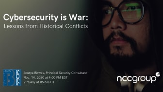 BSides CT - Cybersecurity is War: Lessons from Historical Conflicts