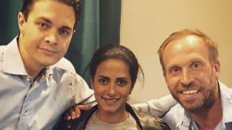 Messiah Hallberg, Anitha Schulman och Jakob Öqvist