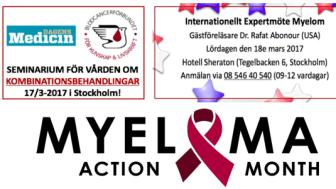 """Blodcancerförbundet är naturligtvis aktiva under """"Myeloma Action Month"""" som i år infaller under mars månad"""