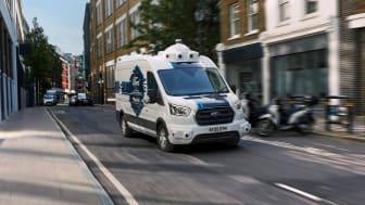 I to uger vil Ford indsamle erfaringer med selvkørende varebiler.