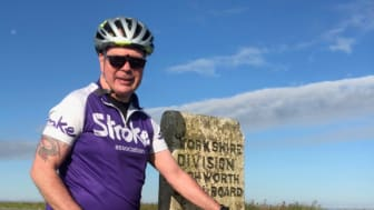 Calderdale man takes on 100 mile cycle each month for Stroke Association