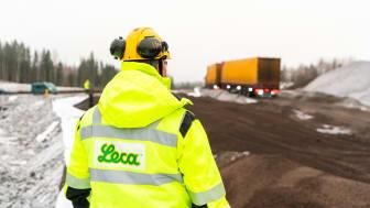 - Vi leverer ut varer som normalt, sier salgssjef Truls Børresen i Leca Norge AS.