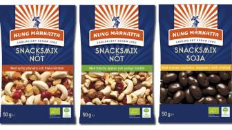 Nya energifyllda snacksmixer att ta till när du är på språng!