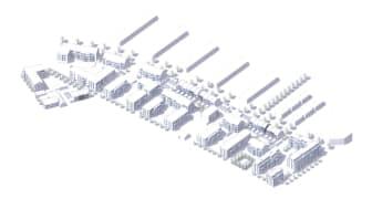 Skissbild, kvarteret Urmakaren, Ystad