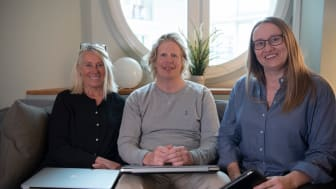 Projektledare Stina Almkvist och Pär Innala, Naturturismföretagen och Sara Nyström, utbildare på Learnify. Foto: Fanny Follin