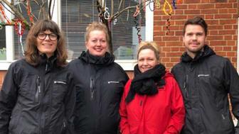 Det vinnande arbetslaget på avdelning Kotten består av förskollärare Ulrika Jelvestam, barnskötare Lisa Andersson, förskollärare Heidi Sjövold och barnskötare Tor Fischer.