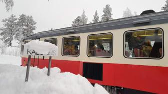 Resenärerna bor i Kåbdalis, Blåfjell Stugby under veckan. Foto: Eva Palmgren