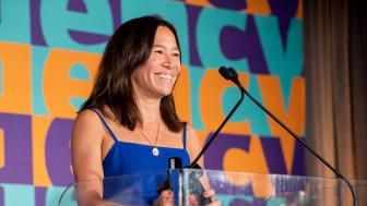 Mei-lin Rawlinson, byråchef på B-Reels studio i Los Angeles, var på plats för att ta emot priset.