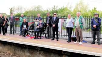 The memorial bench at Millbrook station. Photo: Andy Buckley