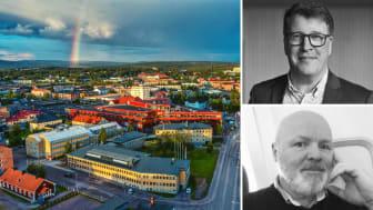 Roger Hansson, vd Gällivare Näringsliv AB och Mats Karmefjord, avdelningschef Verksamhetsstöd vid Boliden Aitik.