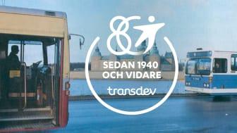 Transdev fyller 80 år – från bussresor till vardagsmobilitet