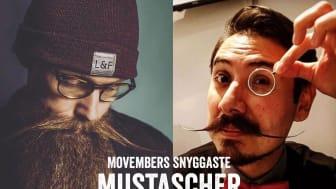 @tjstrand och @mrpresbyopia har Movembers snyggaste mustascher!