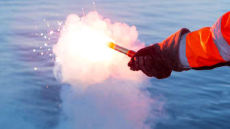 Falska nödraketer skjuts upp 20-40 gånger per år. Foto: Mats Ryde, Sjöräddningssällskapet