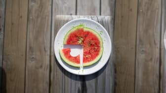Vattenmelon med lime på Overseas by Mathias Dahlgren