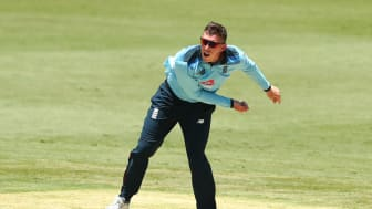Dan Lawrence took four for 28 for England Lions against Cricket Australia XI (credit: Getty Sport)