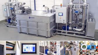 Keramisk ultrafilteranläggning för att rena bort fettemulsioner från vatten