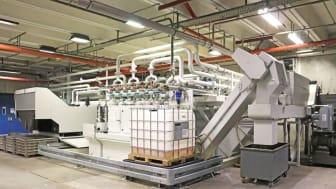Centralt skärvätskereningssystem för slipning levererat av KNOLL.