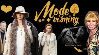 Kungsmässans Modevisning, lördag 17 september klockan 12 och 14. Stylist och konferencier är Frida Zetterström.