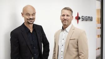 Anders Dannqvist, VD Sigma Civil, och Andreas Leander, avdelningschef Miljö och Geoteknik vid Sigma Civils nyöppnade kontor i Örebro.