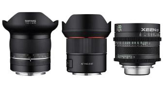 Ab sofort zu haben: Samyang XP 10mm F3,5 für Nikon F, AF 14mm F2,8 RF für Canon EOS R und RP sowie alle angekündigten XEEN CF Objektive.