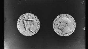 Gustav Vigeland utformet medaljen til Nobels fredspris