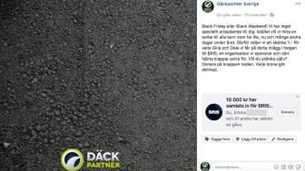 Däckpartner valde att lyfta en välgörenhetsorganisation under Black Friday.