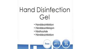 Handdesinfektion gel, 1 liter, KBM Professional